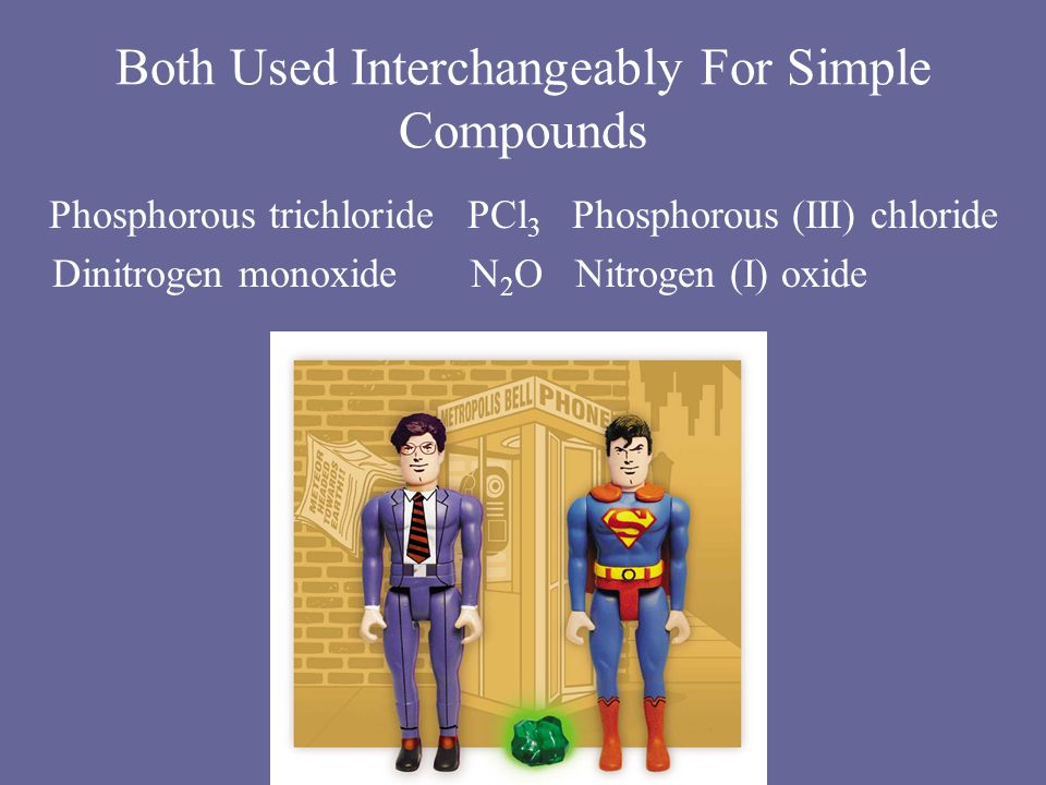 Both Used Interchangeably For Simple Compounds