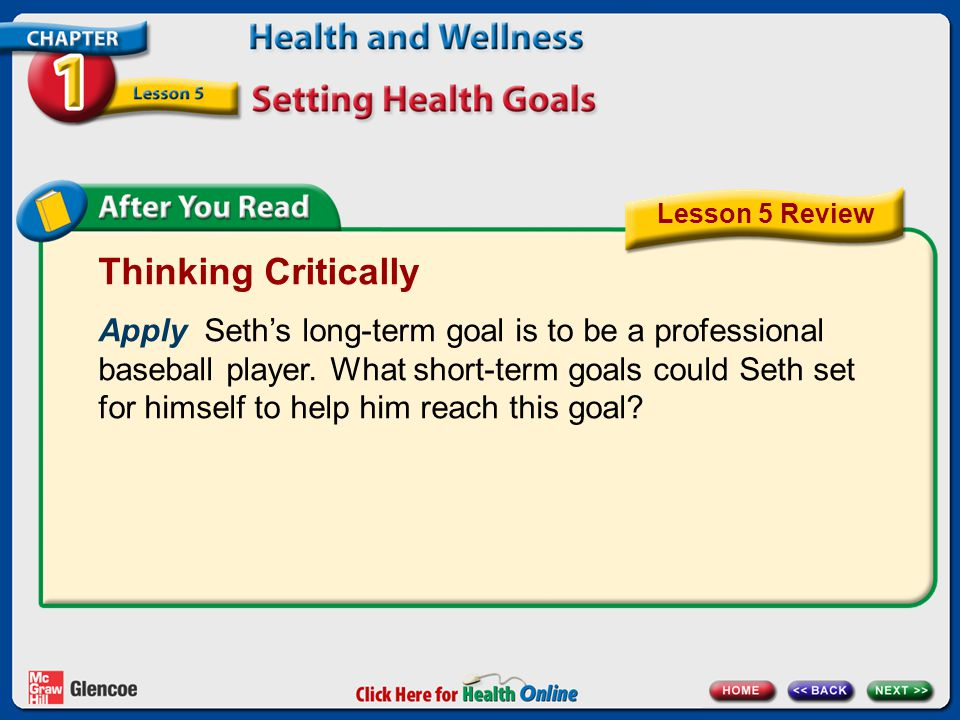 Lesson 5 Review Thinking Critically.