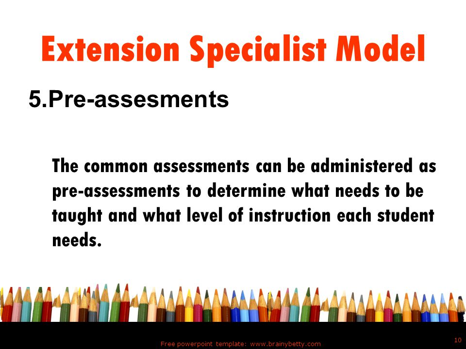 Extension Specialist Model