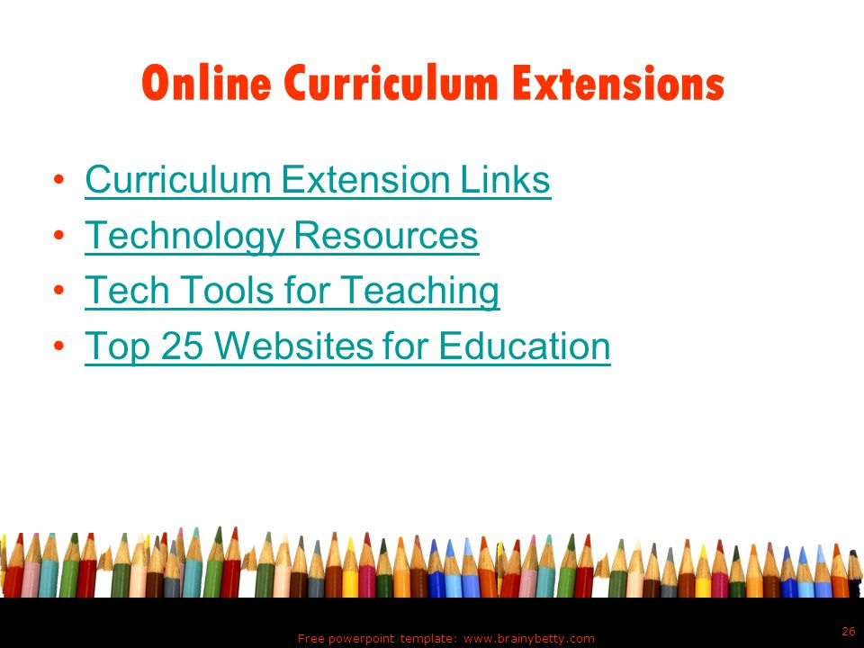 Online Curriculum Extensions