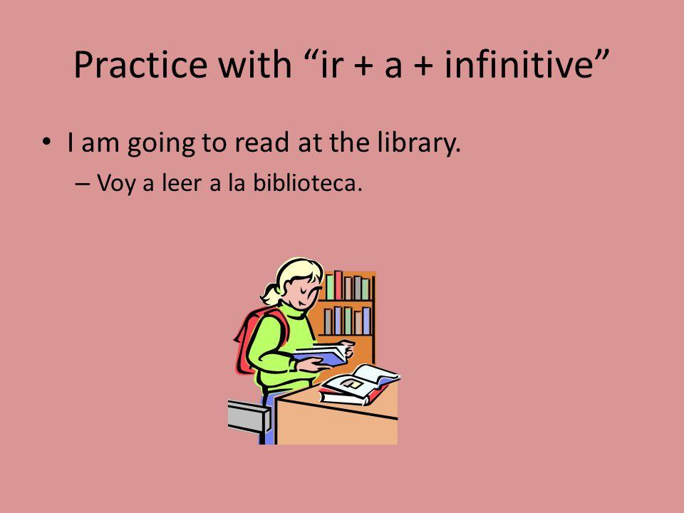 Practice with ir + a + infinitive
