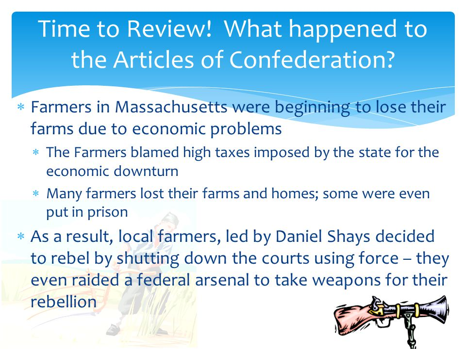Time to Review! What happened to the Articles of Confederation