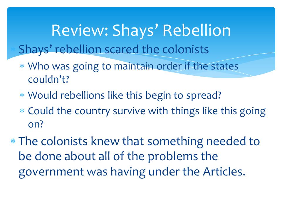 Review: Shays' Rebellion