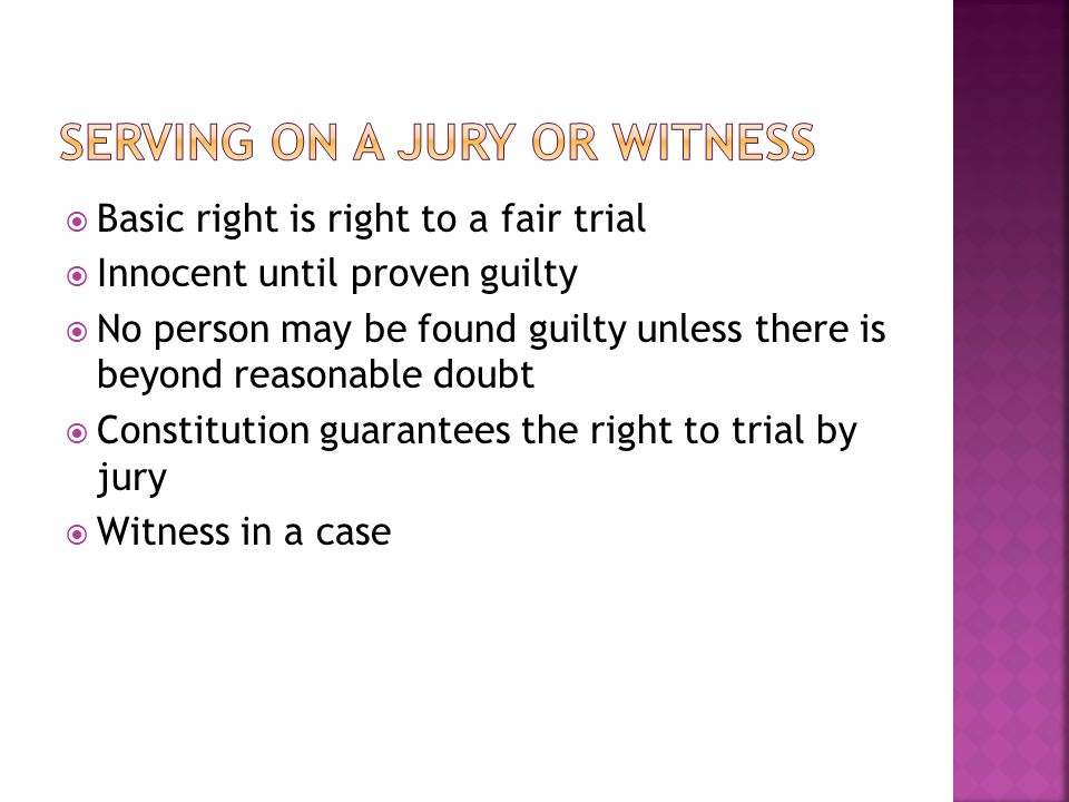 Serving on a Jury or Witness