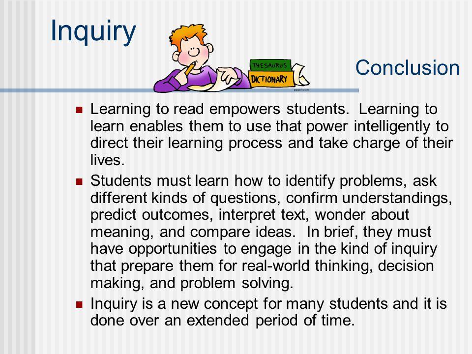 Inquiry Conclusion
