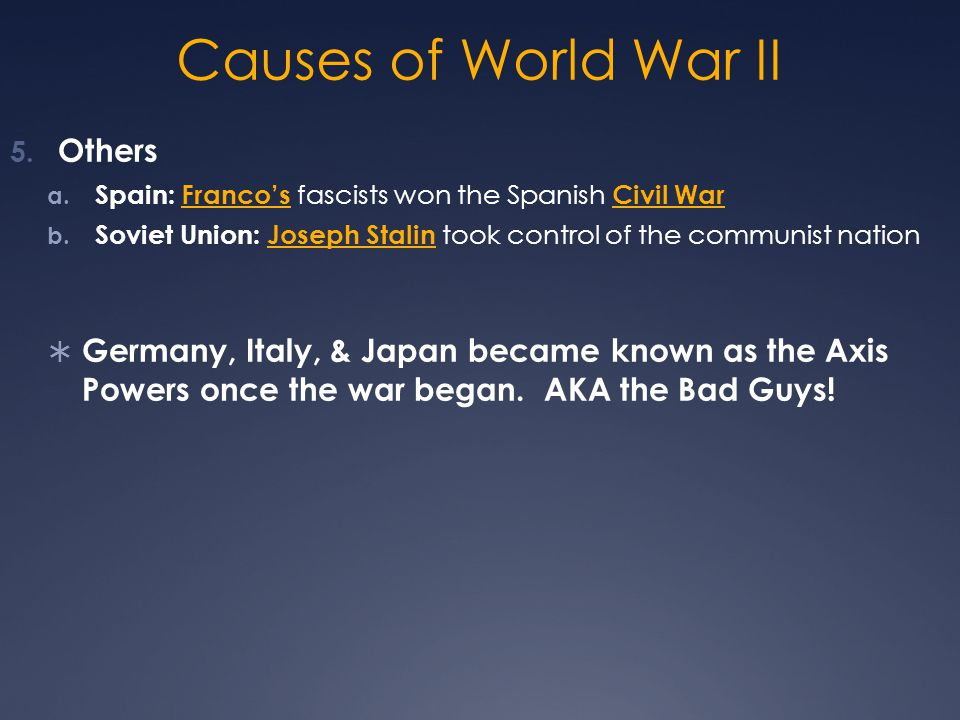 Causes of World War II Others