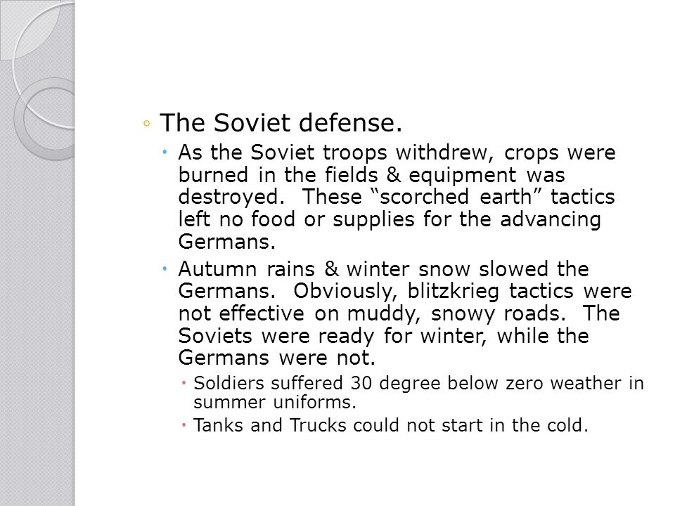 The Soviet defense.