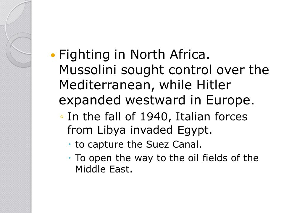 Fighting in North Africa
