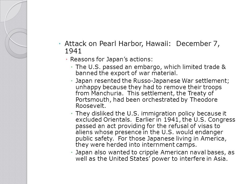 Attack on Pearl Harbor, Hawaii: December 7, 1941