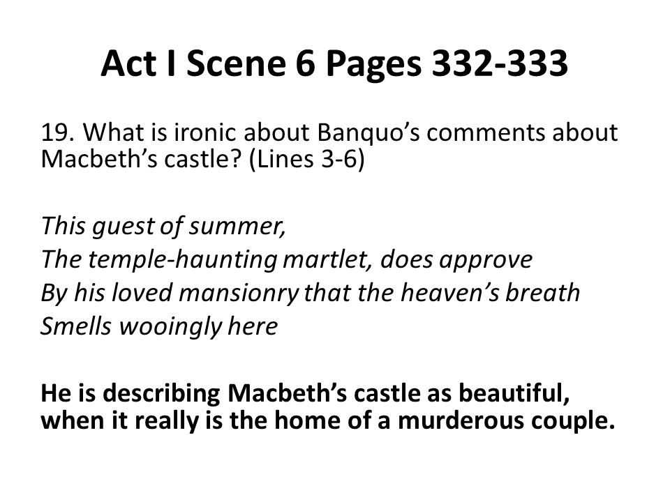 Act I Scene 6 Pages 332-333