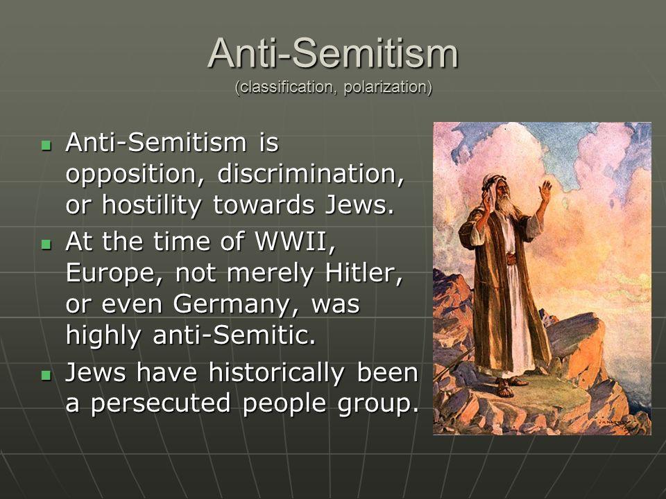 Anti-Semitism (classification, polarization)