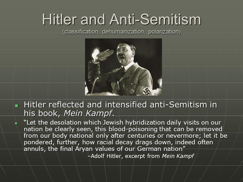 Hitler and Anti-Semitism (classification, dehumanization, polarization)