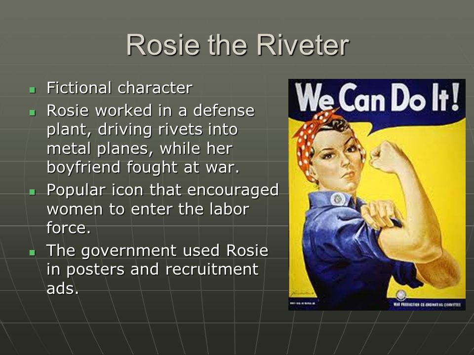 Rosie the Riveter Fictional character