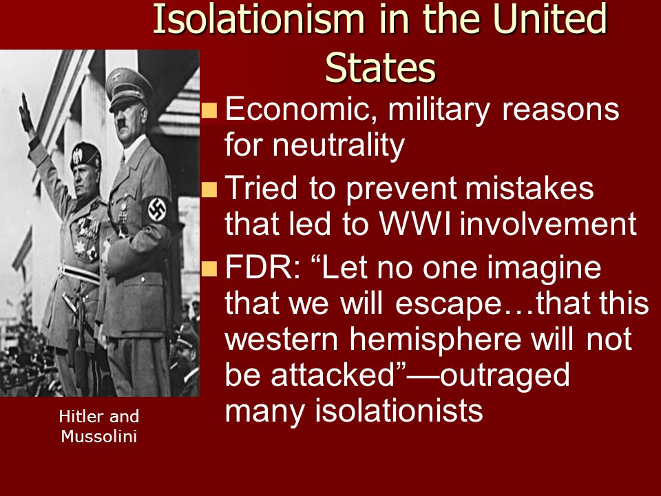 Isolationism in the United States
