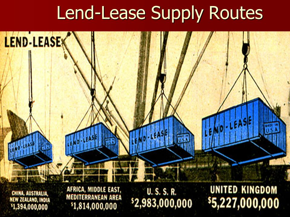 Lend-Lease Supply Routes