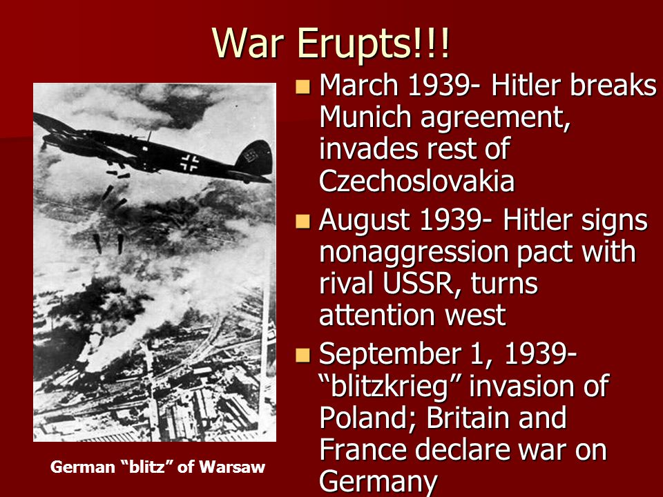 German blitz of Warsaw