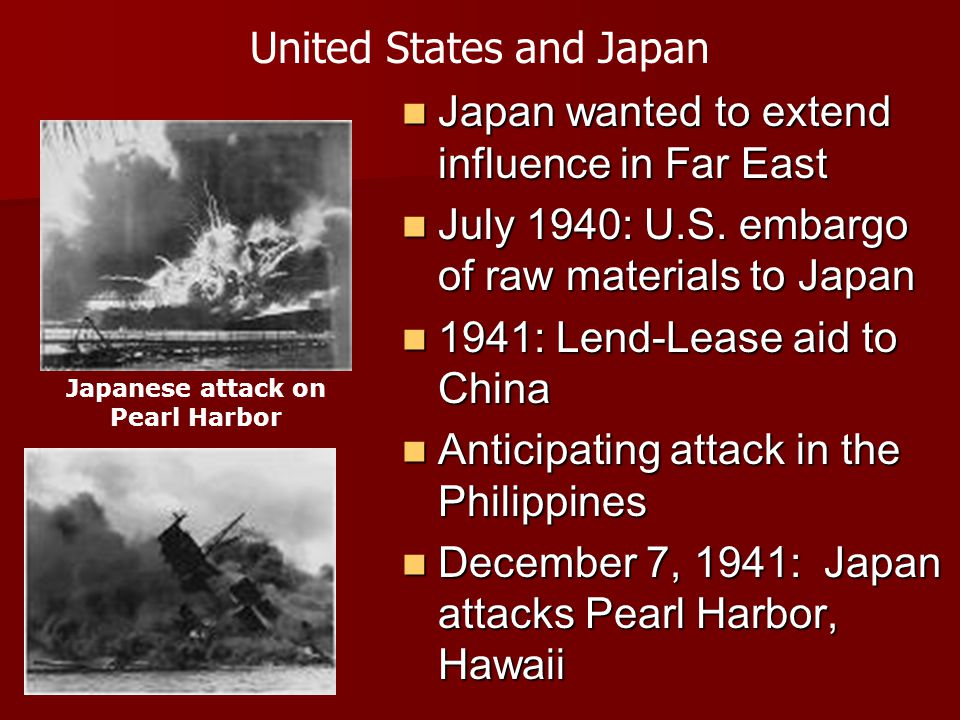 Japanese attack on Pearl Harbor