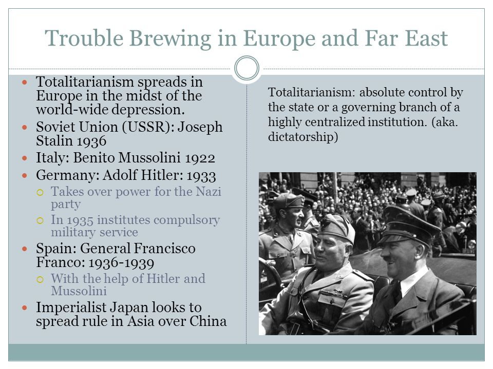 Trouble Brewing in Europe and Far East
