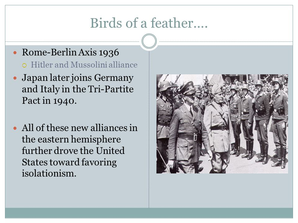 Birds of a feather…. Rome-Berlin Axis 1936