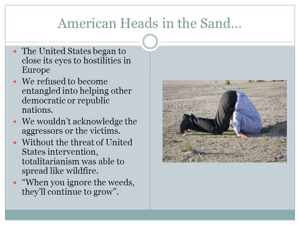 American Heads in the Sand…