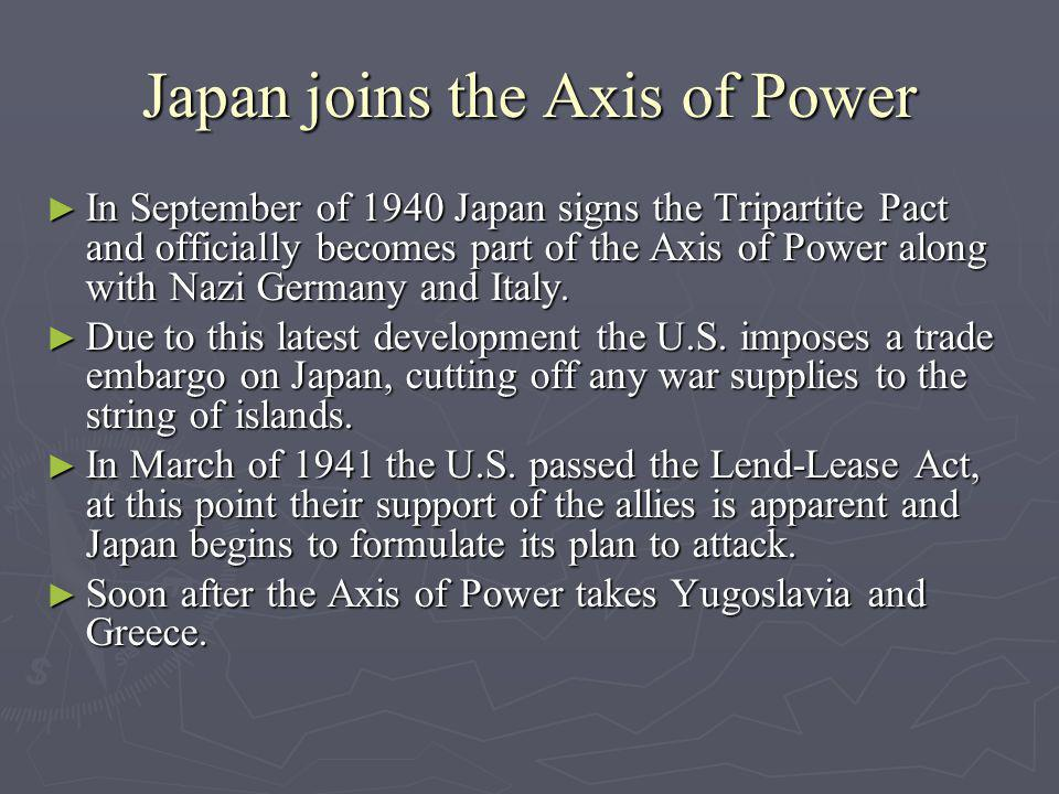 Japan joins the Axis of Power