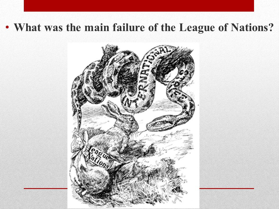 What was the main failure of the League of Nations