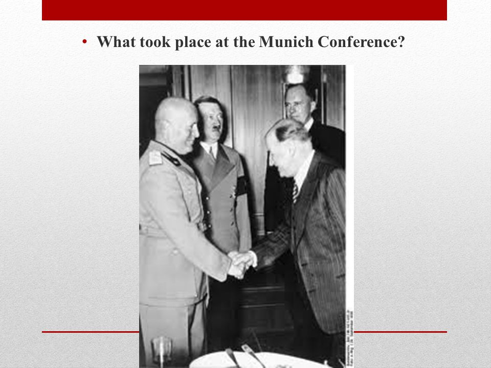 What took place at the Munich Conference