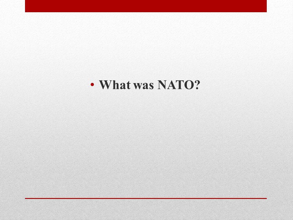 What was NATO