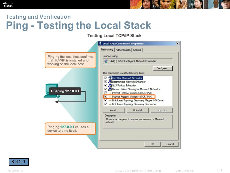 Testing and Verification Ping - Testing the Local Stack