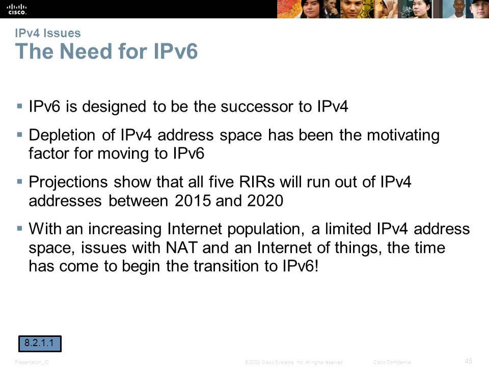 IPv4 Issues The Need for IPv6