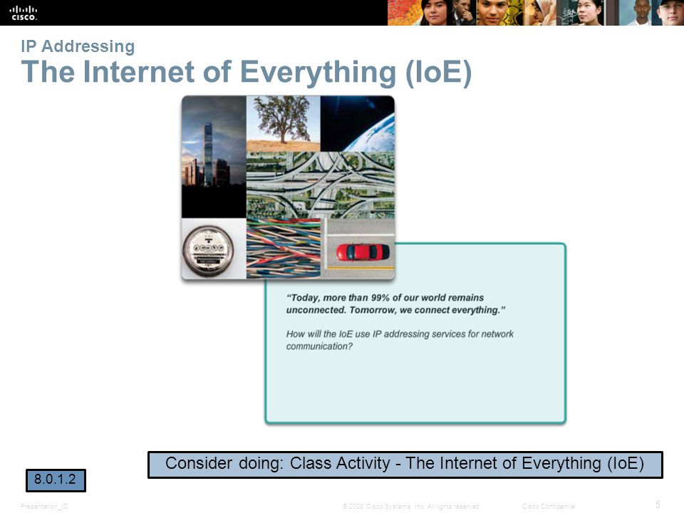 IP Addressing The Internet of Everything (IoE)