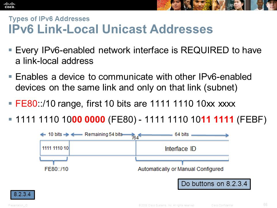 Types of IPv6 Addresses IPv6 Link-Local Unicast Addresses