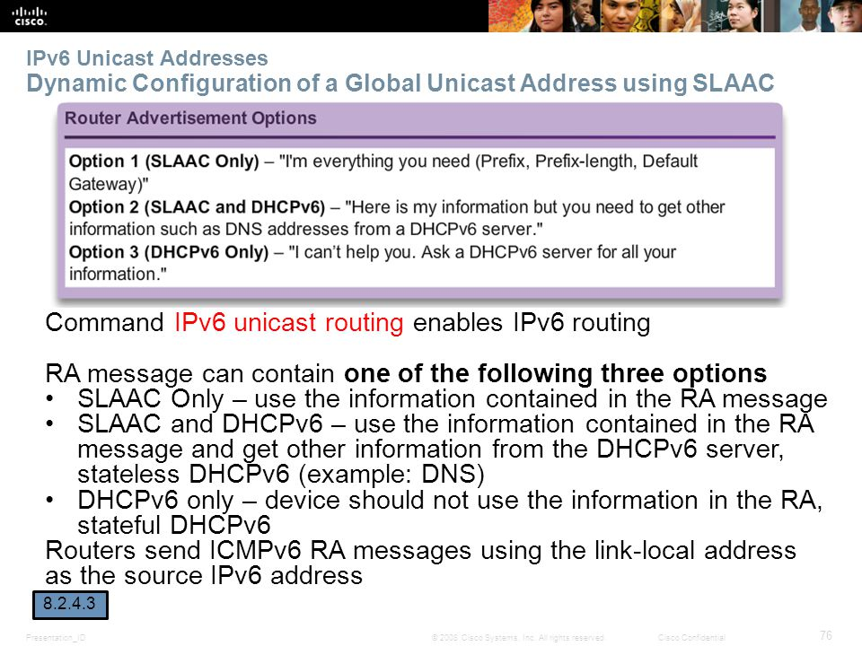 Command IPv6 unicast routing enables IPv6 routing