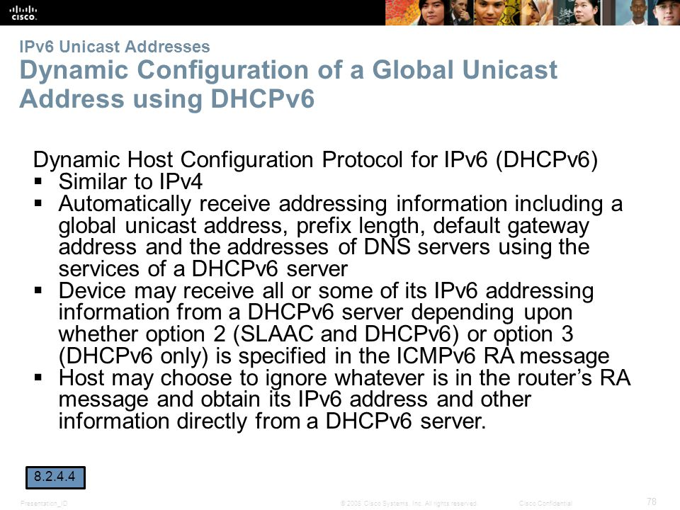 Dynamic Host Configuration Protocol for IPv6 (DHCPv6) Similar to IPv4