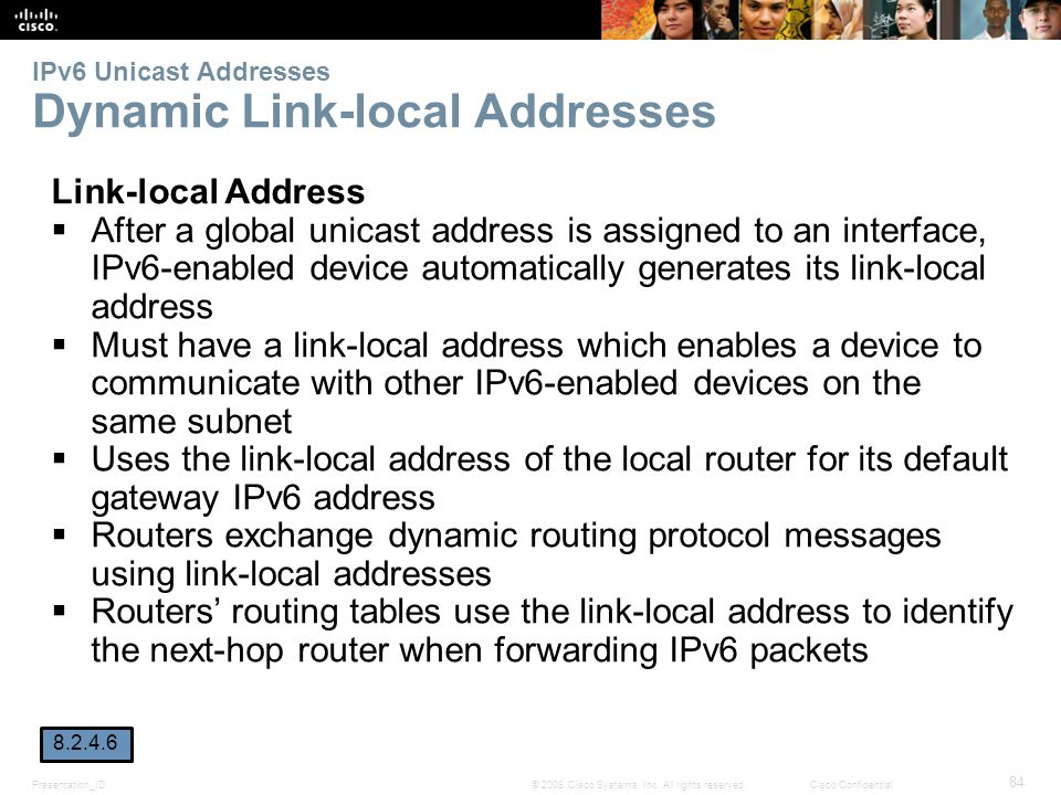 IPv6 Unicast Addresses Dynamic Link-local Addresses