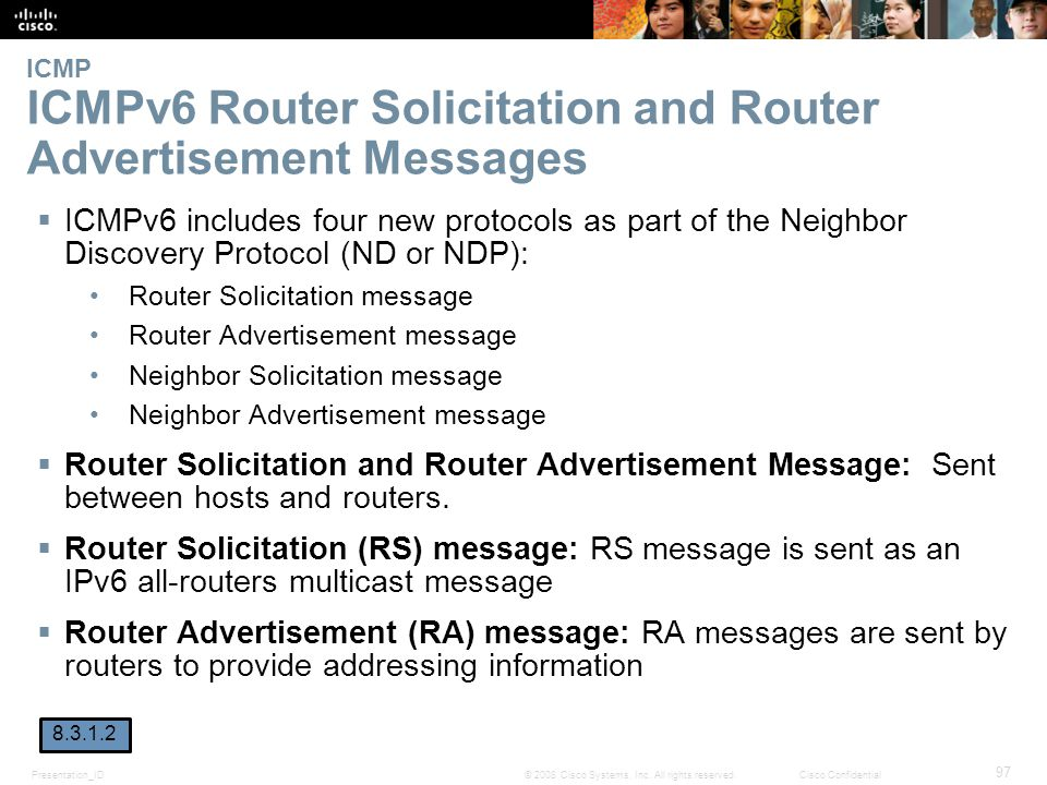 ICMP ICMPv6 Router Solicitation and Router Advertisement Messages