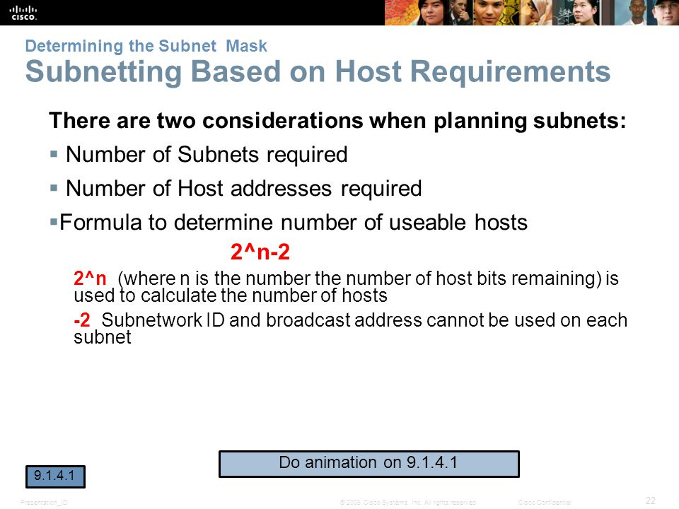 Determining the Subnet Mask Subnetting Based on Host Requirements