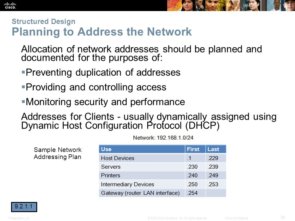 Structured Design Planning to Address the Network