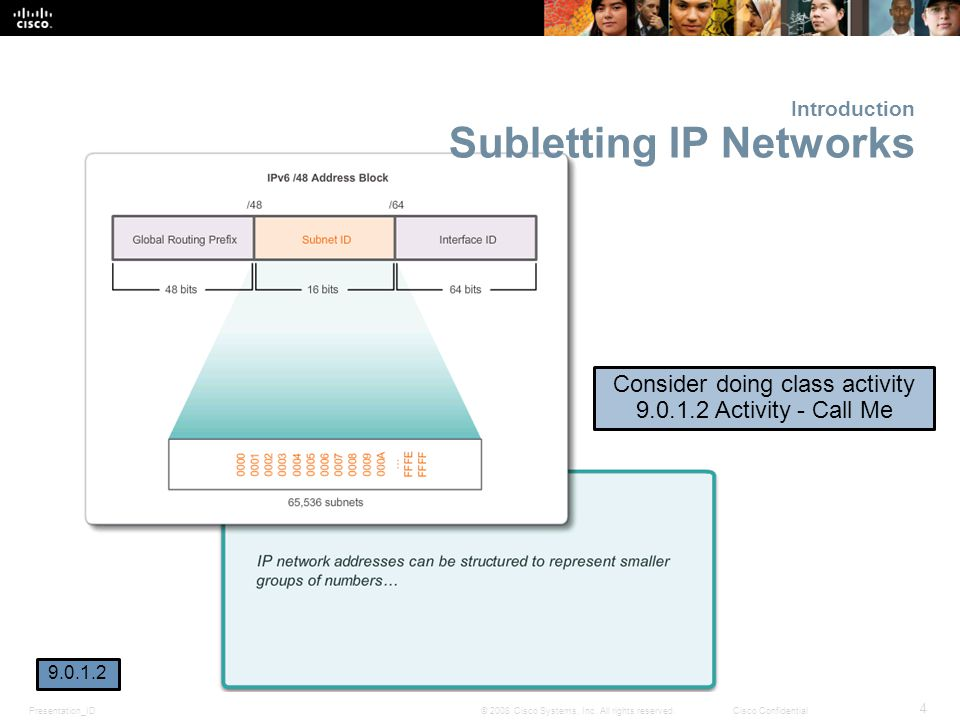 Introduction Subletting IP Networks