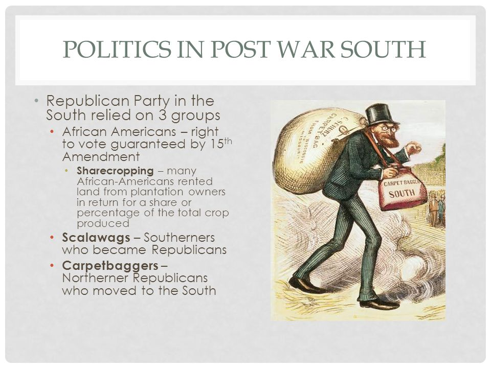 Politics in Post War South