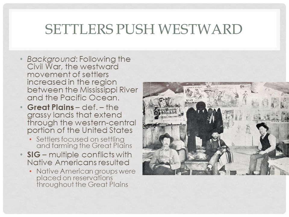 Settlers Push Westward