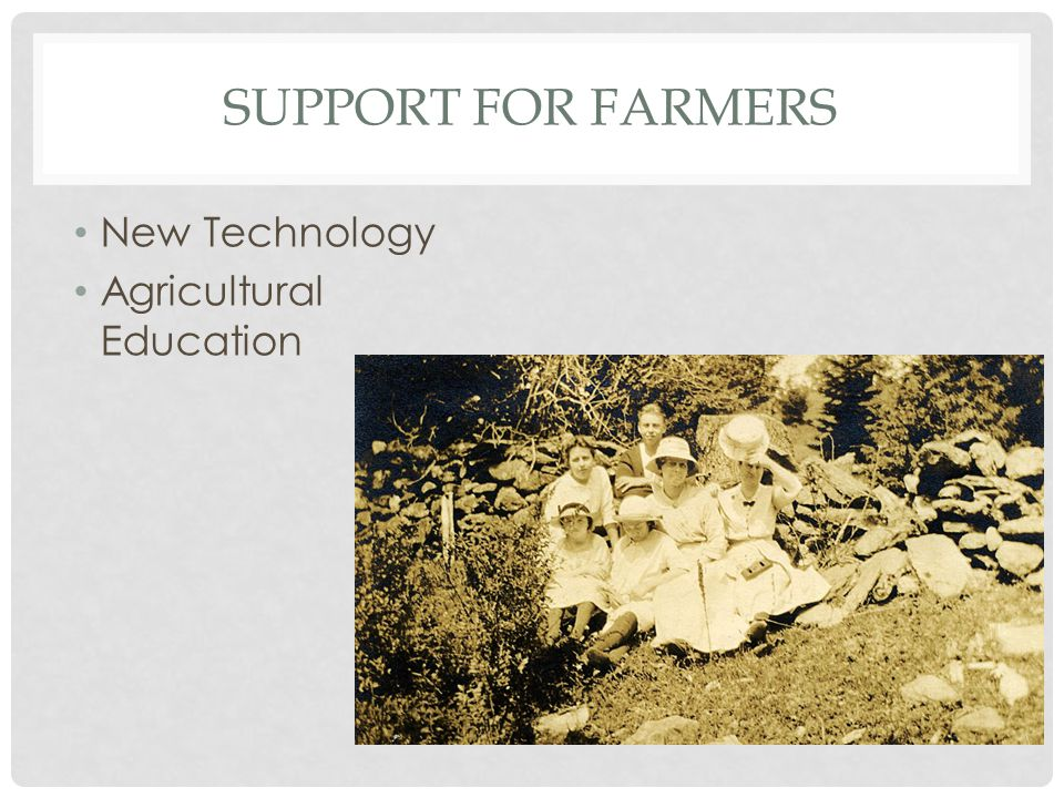 Support for Farmers New Technology Agricultural Education