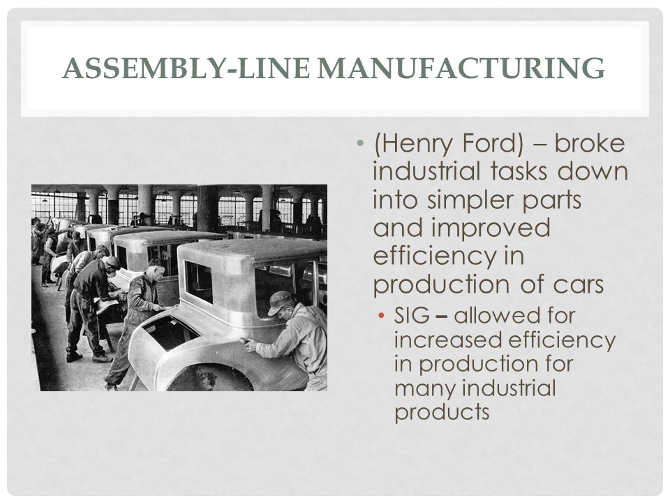 Assembly-Line Manufacturing