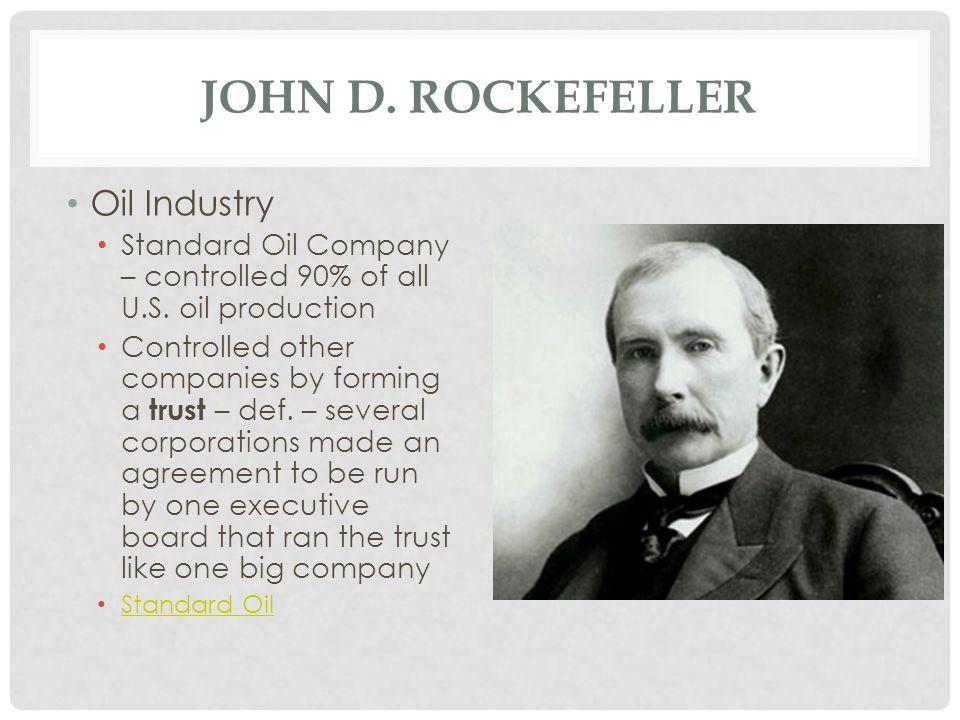 John D. Rockefeller Oil Industry