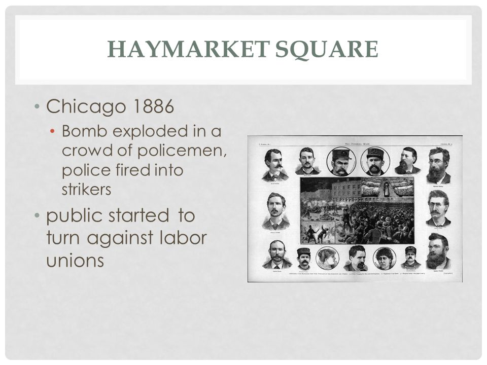 Haymarket Square Chicago 1886