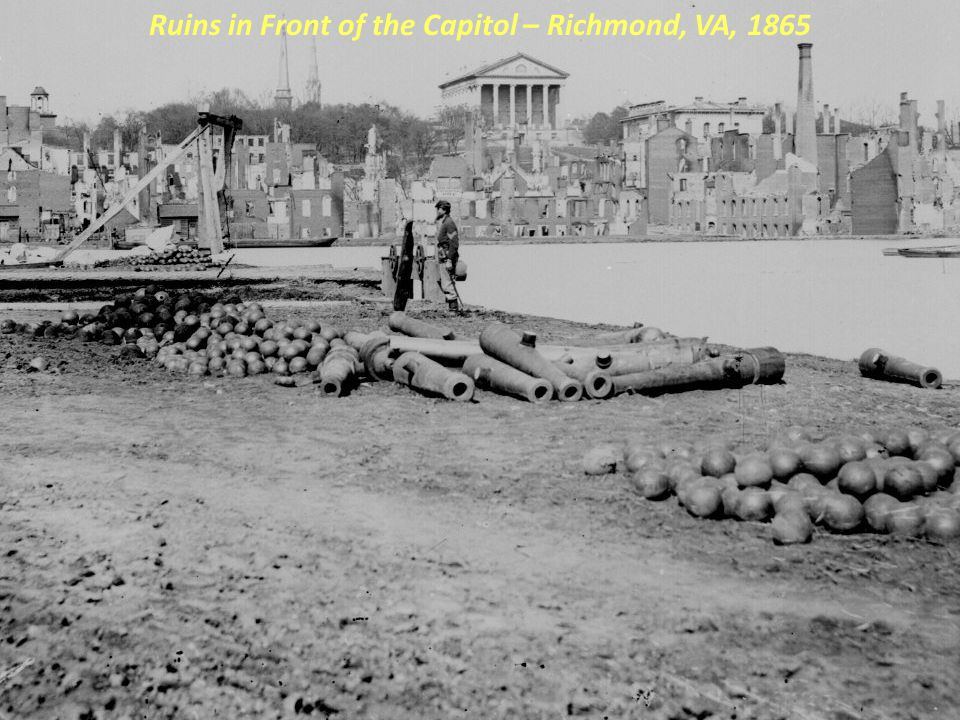 Ruins in Front of the Capitol – Richmond, VA, 1865
