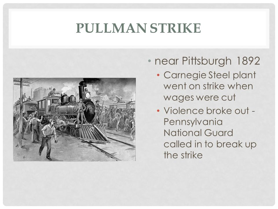 Pullman Strike near Pittsburgh 1892