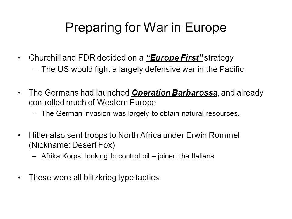 Preparing for War in Europe