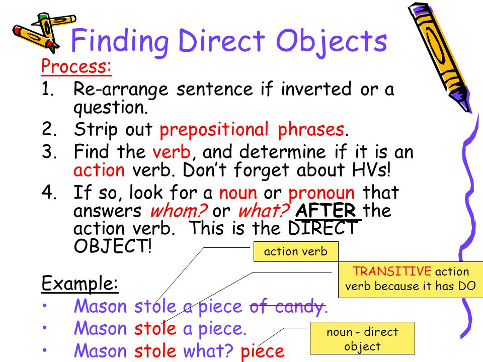 Finding Direct Objects