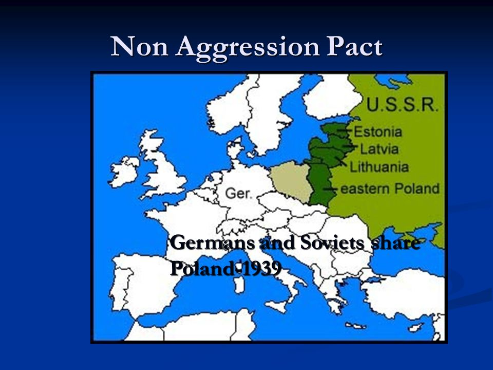 Non Aggression Pact Germans and Soviets share Poland-1939